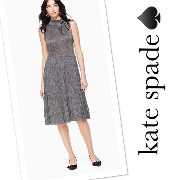 3258ce13ac3 Kate Spade Metallic Knot Sweater Dress Medium